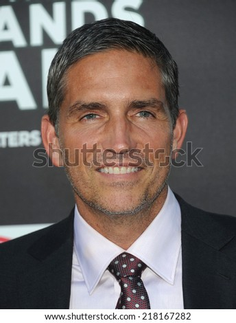 "LOS ANGELES - AUG 04:  Jim Caviezel arrives to the """"When The Game Stands Tall"" World Premiere  on August 4, 2014 in Hollywood, CA."
