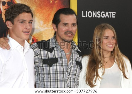 "LOS ANGELES - AUG 18:  John Leguizamo at the ""American Ultra"" Premiere at the Theater at Ace Hotel on August 18, 2015 in Los Angeles, CA - stock photo"