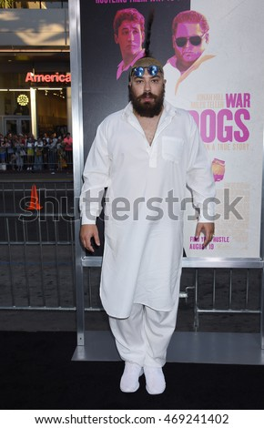 "LOS ANGELES - AUG 15:  Josh Ostrovsky arrives to the ""War Dogs"" Los Angeles Premiere  on August 15, 2016 in Hollywood, CA"