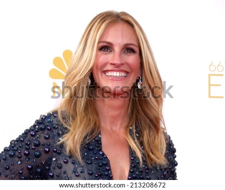 LOS ANGELES - AUG 25:  Julia Roberts at the 2014 Primetime Emmy Awards - Arrivals at Nokia Theater at LA Live on August 25, 2014 in Los Angeles, CA - stock photo