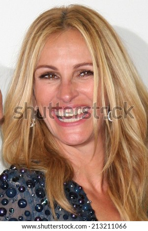 LOS ANGELES - AUG 25:  Julia Roberts at the 2014 Primetime Emmy Awards - Press Room at Nokia Theater at LA Live on August 25, 2014 in Los Angeles, CA - stock photo