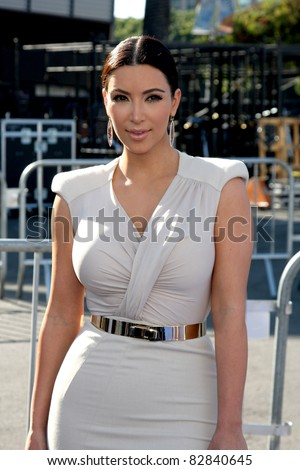 LOS ANGELES - AUG 14:  Kim Kardashian arriving at the 2011 VH1 Do Something Awards at Hollywood Palladium on August 14, 2011 in Los Angeles, CA - stock photo