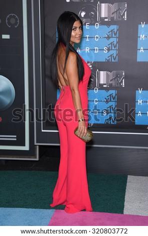 LOS ANGELES - AUG 30:  Kourtney Kardashian 2015 MTV Video Music Awards - Arrivals  on August 30, 2015 in Hollywood, CA                 - stock photo