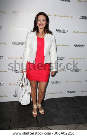 "LOS ANGELES - AUG 19:  Laura Harring at the ""She's Funny That Way"" Red Carpet Premiere at the Harmony Gold Theater on August 19, 2015 in Los Angeles, CA"