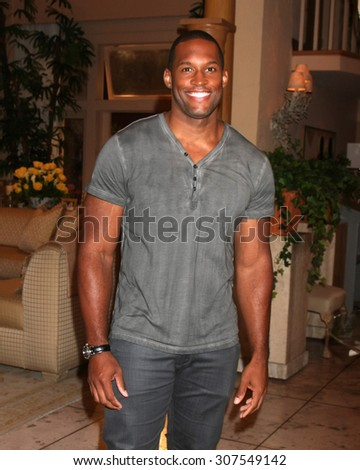 LOS ANGELES - AUG 14:  Lawrence Saint-Victor at the Bold and Beautiful Fan Event Friday at the CBS Television City on August 14, 2015 in Los Angeles, CA - stock photo