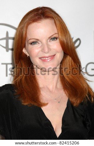 LOS ANGELES - AUG 7:  Marcia Cross arriving at the Disney / ABC Television Group 2011 Summer Press Tour Party at Beverly Hilton Hotel on August 7, 2011 in Beverly Hills, CA