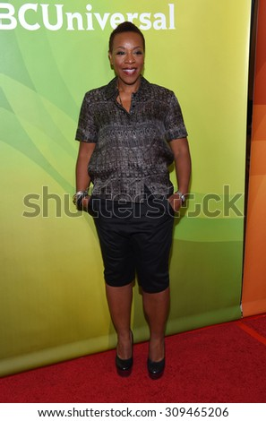 LOS ANGELES - AUG 12:  Marianne Jean-Baptiste arrives to the arrives to the Summer 2015 TCA's - NBCUniversal  on August 12, 2015 in Beverly Hills, CA                 - stock photo