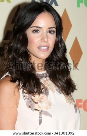 LOS ANGELES - AUG 6:  Melissa Fumero at the FOX TCA Summer 2015 All-Star Party at the Soho House on August 6, 2015 in West Hollywood, CA - stock photo