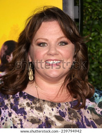 "LOS ANGELES - AUG 09:  MELISSA McCARTHY arrives to the ""The Help"" World Premiere  on August 09, 2011 in Beverly Hills, CA                 - stock photo"