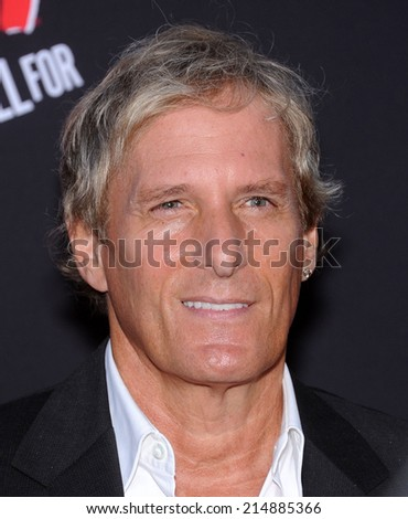 """LOS ANGELES - AUG 19:  Michael Bolton arrives to the """"Sin City: A Dame To Kill For"""" Los Angeles Premiere  on August 19, 2014 in Hollywood, CA                 - stock photo"""
