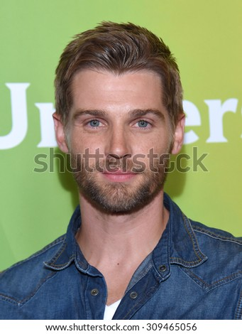 LOS ANGELES - AUG 12:  Mike Vogel arrives to the arrives to the Summer 2015 TCA's - NBCUniversal  on August 12, 2015 in Beverly Hills, CA                 - stock photo