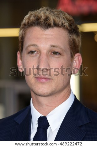 "LOS ANGELES - AUG 15:  Miles Teller arrives to the ""War Dogs"" Los Angeles Premiere  on August 15, 2016 in Hollywood, CA"