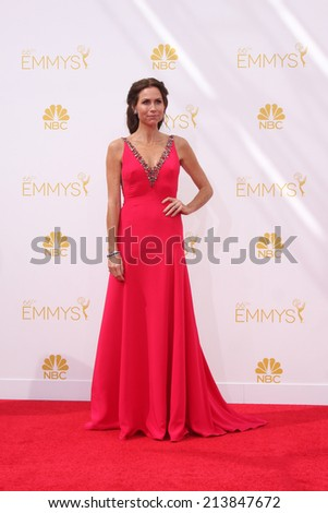 LOS ANGELES - AUG 25:  Minnie Driver at the 2014 Primetime Emmy Awards - Arrivals at Nokia at LA Live on August 25, 2014 in Los Angeles, CA - stock photo