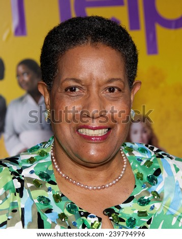 "LOS ANGELES - AUG 09:  MYRLIE EVERS-WILLIAMS arrives to the ""The Help"" World Premiere  on August 09, 2011 in Beverly Hills, CA                 - stock photo"