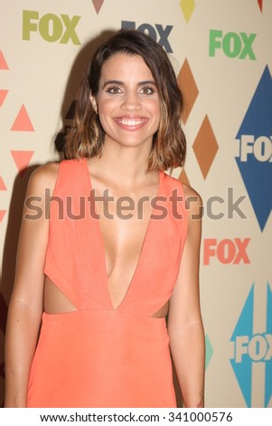 LOS ANGELES - AUG 6:  Natalie Morales at the FOX TCA Summer 2015 All-Star Party at the Soho House on August 6, 2015 in West Hollywood, CA - stock photo