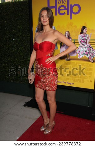 "LOS ANGELES - AUG 09:  OLGA FONDA arrives to the ""The Help"" World Premiere  on August 09, 2011 in Beverly Hills, CA                 - stock photo"