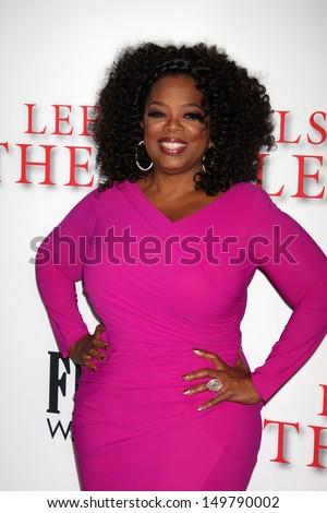 "LOS ANGELES - AUG 12:  Oprah Winfrey at the ""Lee Daniels' The Butler"" LA Premiere at the Regal 14 Theaters on August 12, 2013 in Los Angeles, CA - stock photo"