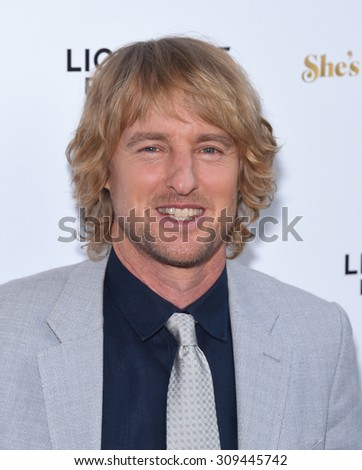 "LOS ANGELES - AUG 19:  Owen Wilson arrives to the ""She's Funny That Way"" Los Angeles Premiere  on August 19, 2015 in Hollywood, CA                 - stock photo"