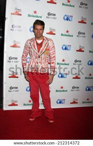 LOS ANGELES - AUG 21:  Perez Hilton, aka  Mario Armando Lavandeira, Jr. at the OK! TV Awards Party at Sofiitel L.A. on August 21, 2014 in West Hollywood, CA - stock photo