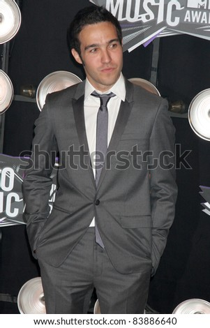 LOS ANGELES - AUG 28:  Pete Wentz arriving at the  2011 MTV Video Music Awards at the LA Live on August 28, 2011 in Los Angeles, CA