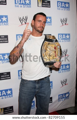 "LOS ANGELES - AUG 11:  ""phillip jack brooks aka cm punk""  arriving at the ""be A STAR"" Summer Event  at Andaz Hotel on August 11, 2011 in Los Angeles, CA - stock photo"