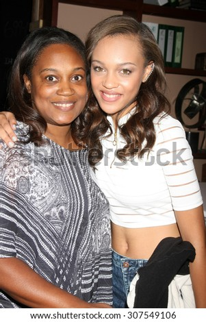 LOS ANGELES - AUG 14:  Reign Edwards, mother at the Bold and Beautiful Fan Event Friday at the CBS Television City on August 14, 2015 in Los Angeles, CA
