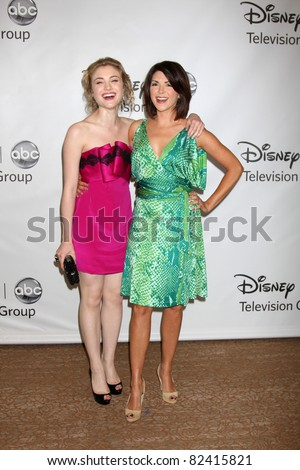 LOS ANGELES - AUG 7:  Skylar Samuels, Amy Pietz arriving at the Disney / ABC Television Group 2011 Summer Press Tour Party at Beverly Hilton Hotel on August 7, 2011 in Beverly Hills, CA