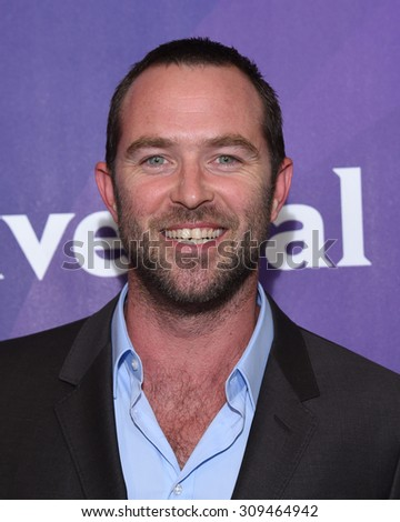 LOS ANGELES - AUG 12:  Sullivan Stapleton arrives to the arrives to the Summer 2015 TCA's - NBCUniversal  on August 12, 2015 in Beverly Hills, CA                 - stock photo
