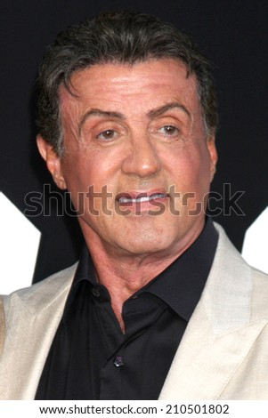 "LOS ANGELES - AUG 11:  Sylvester Stallone at the ""Expendables 3"" Premiere at TCL Chinese Theater on August 11, 2014 in Los Angeles, CA"