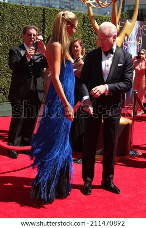 LOS ANGELES - AUG 16:  Tim Gunn at the 2014 Creative Emmy Awards - Arrivals at Nokia Theater on August 16, 2014 in Los Angeles, CA - stock photo