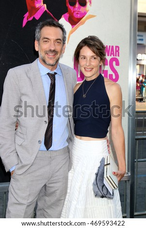 "LOS ANGELES - AUG 15:  Todd Phillips, wife at the War Dogs"" Premiere at the TCL Chinese Theater IMAX on August 15, 2016 in Los Angeles, CA"