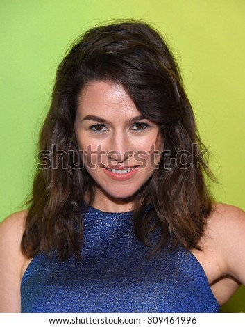 LOS ANGELES - AUG 12:  Yael Stone arrives to the arrives to the Summer 2015 TCA's - NBCUniversal  on August 12, 2015 in Beverly Hills, CA                 - stock photo