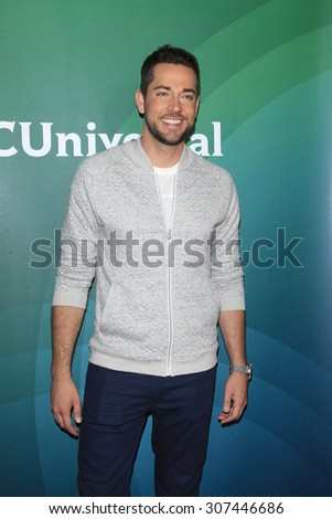 LOS ANGELES - AUG 13:  Zachary Levi at the NBCUniversal 2015 TCA Summer Press Tour at the Beverly Hilton Hotel on August 13, 2015 in Beverly Hills, CA - stock photo