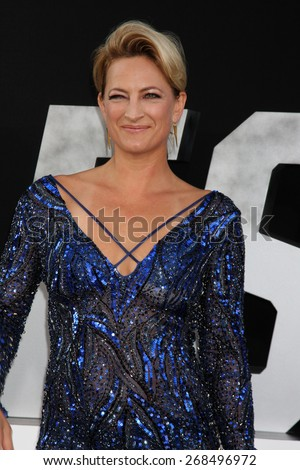 "LOS ANGELES - AUG 11:  Zoe Bell at the ""Expendables 3"" Premiere at TCL Chinese Theater on August 11, 2014 in Los Angeles, CA  - stock photo"