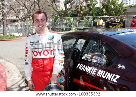 LOS ANGELES, CA - APR 16: Frankie Muniz at the Toyota Grand Prix Pro Celeb Race at Toyota Grand Prix Track on April 16, 2011 in Long Beach, California