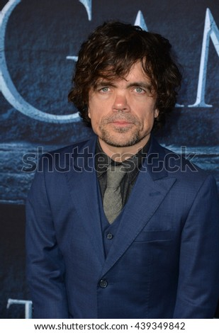 LOS ANGELES, CA. April 10, 2016: Actor Peter Dinklage at the season 6 premiere of Game of Thrones at the TCL Chinese Theatre, Hollywood.