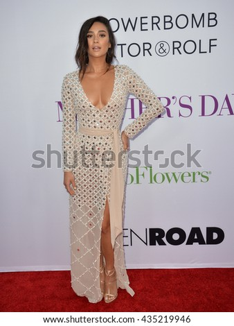 "LOS ANGELES, CA. April 13, 2016: Actress Shay Mitchell at the world premiere of ""Mother's Day"" at the TCL Chinese Theatre, Hollywood."