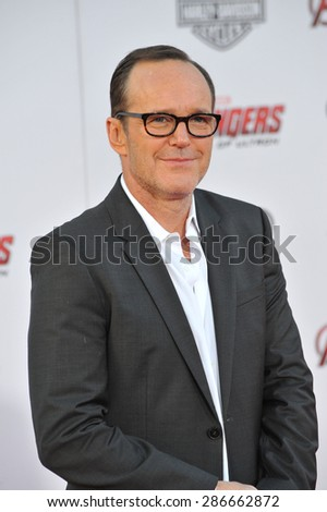 """LOS ANGELES, CA - APRIL 13, 2015: Clark Gregg at the world premiere of """"Avengers: Age of Ultron"""" at the Dolby Theatre, Hollywood.  - stock photo"""