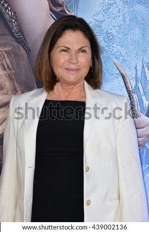 "LOS ANGELES, CA. April 11, 2016: Costume designer Colleen Atwood at the US premiere of ""The Huntsman: Winter's War"" at the Regency Village Theatre, Westwood."
