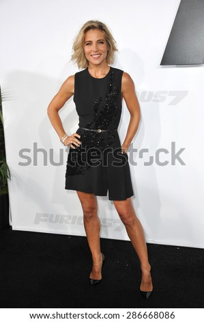 "LOS ANGELES, CA - APRIL 1, 2015: Elsa Pataky at the world premiere of her movie ""Furious 7"" at the TCL Chinese Theatre, Hollywood.  - stock photo"