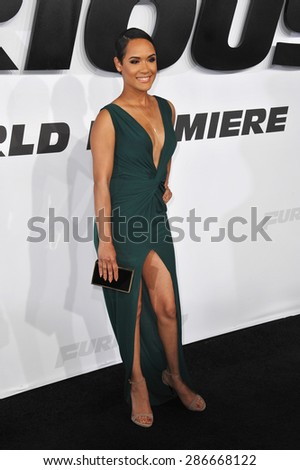"""LOS ANGELES, CA - APRIL 1, 2015: Grace Gealey at the world premiere of """"Furious 7"""" at the TCL Chinese Theatre, Hollywood.  - stock photo"""