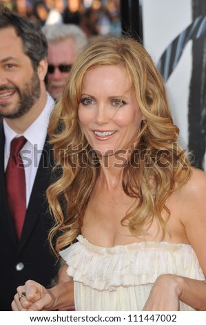 "LOS ANGELES, CA - APRIL 14, 2009: Leslie Mann  at the Los Angeles premiere of her new movie ""17 Again"" at Grauman's Chinese Theatre, Hollywood."