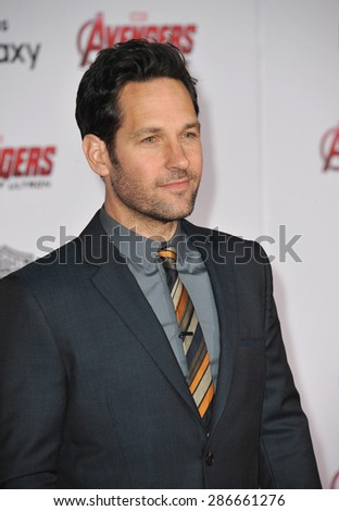 """LOS ANGELES, CA - APRIL 13, 2015: Paul Rudd at the world premiere of """"Avengers: Age of Ultron"""" at the Dolby Theatre, Hollywood.  - stock photo"""