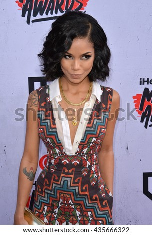 LOS ANGELES, CA. April 3, 2016. Singer Jhene Aiko at the iHeartRadio Music Awards 2016 at The Forum.
