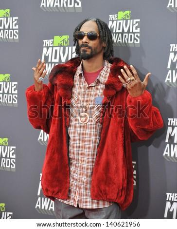 LOS ANGELES, CA - APRIL 14, 2013: Snoop Dogg at the 2013 MTV Movie Awards at Sony Studios, Culver City.  - stock photo