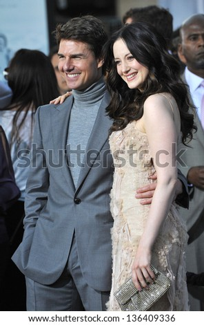 "LOS ANGELES, CA - APRIL 10, 2013: Tom Cruise & Andrea Riseborough at the American premiere of their new movie ""Oblivion"" at the Dolby Theatre, Hollywood. - stock photo"