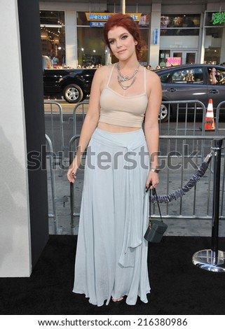 "LOS ANGELES, CA - AUGUST 20, 2014: Ali Milner at the world premiere of her movie ""If I Stay"" at the TCL Chinese Theatre, Hollywood.  - stock photo"