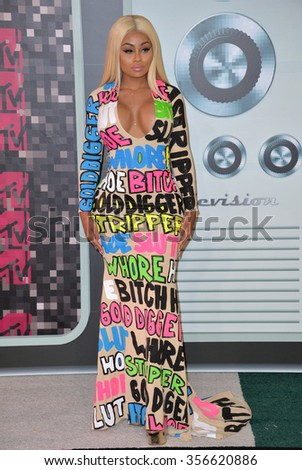 LOS ANGELES, CA - AUGUST 30, 2015: Blac Chyna at the 2015 MTV Video Music Awards at the Microsoft Theatre LA Live.