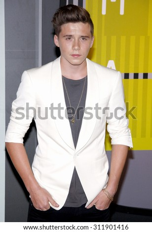 LOS ANGELES, CA - AUGUST 30, 2015: Brooklyn Beckham at the 2015 MTV Video Music Awards held at the Microsoft Theater in Los Angeles, USA on August 30, 2015. - stock photo