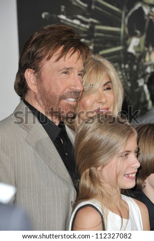 "LOS ANGELES, CA - AUGUST 16, 2012: Chuck Norris at the Los Angeles premiere of his movie ""The Expendables 2"" at Grauman's Chinese Theatre, Hollywood."